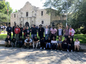Kids enjoying the Alamo