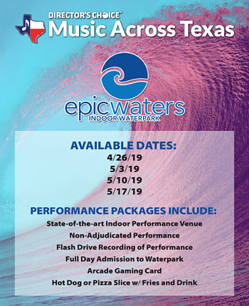 Epic Waters available dates graphic
